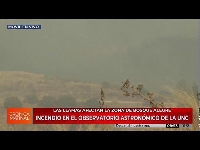 Móvil | Avanza el incendio en Bosque Alegre