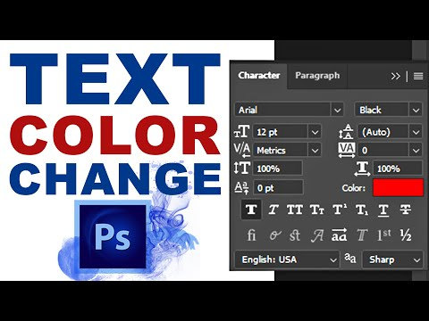 Change Text Color Without Character Toolbar In Photoshop CC
