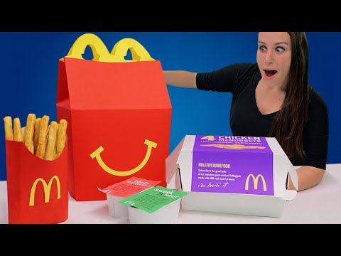 DIY Giant 4 Piece Happy Meal 🙂 - RIP TOYS R US