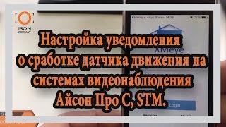 как настроить уведомления о сработке датчика движения на системах видеонаблюдения ISON PRO S и STM