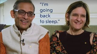 Esther Duflo and Abhijit Banerjee on receiving the Nobel Prize call