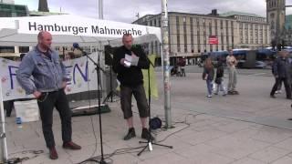 61. Hamburger Mahnwache am 08.06.2015 | Zwei über den Zustand Deutschlands