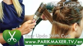 Easy Updo with curls parikmaxer tv english version | parikmaxer TV USA