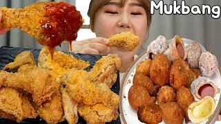 [광고] 오늘은 치킨🍗 후라이드 참 잘하는집 후라이드, 눈꽃치즈, 치즈볼, 허니버터핫도그, 붕어빵 먹방 Mukbang