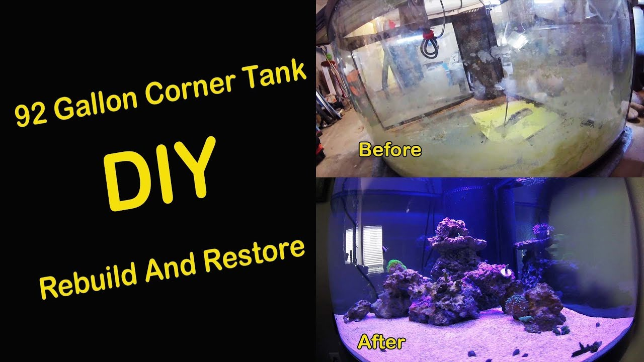 92 Gallon Salt Water Corner Tank Rebuild And Restore