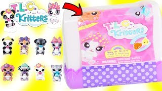 TLC Kritters Fuzzy Toy Pet Surprises Opening with LOL Surprise | Toy Egg Videos