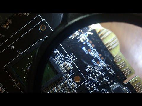 Замена конденсатора PCI-E слота. Чем заменить. Ремонт видеокарты NVIDIA GT540 4GB.