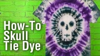 How-To Make a Tie Dye Skull Shirt