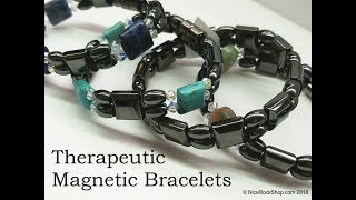 Magnetic Bracelet Therapeutic Earth Magnets Healing Hematite jewelry