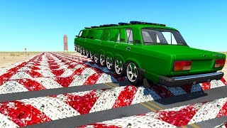 Beamng drive - 500+ Speed Breakers Crashes #2 (speed bumps crashes)