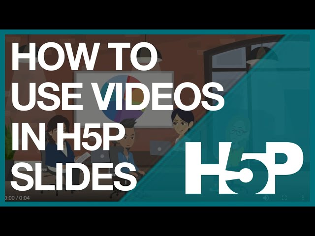How to use video in H5P slides  -  combining video and H5P presentation