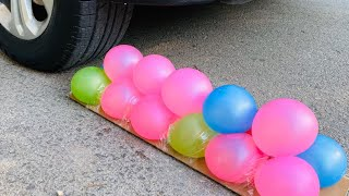 Expriment Car Crushing Crushing &Soft Things By Car Baallons Toys #20