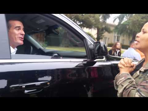 LA Mayor Eric Garcetti Explains to Black Lives Matter Activists Why He's Leaving LA for DC