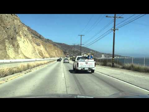 Driving PCH from Malibu to Santa Monica Pier (HD)
