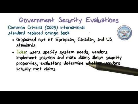 Security Evaluations: Common Criteria