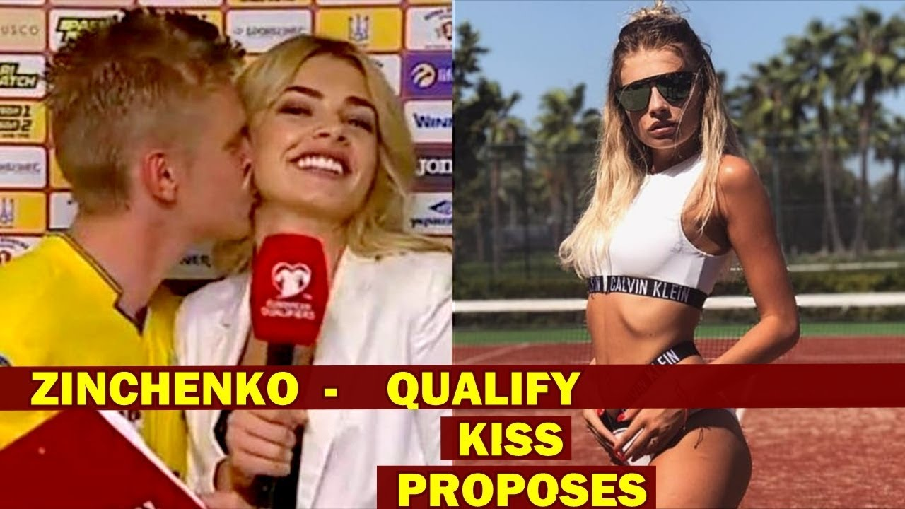 Alex Zinchenko - Man City / Ukraine Qualify for EURO 2020 KISSES Girlfriend  reporter and propose - YouTube