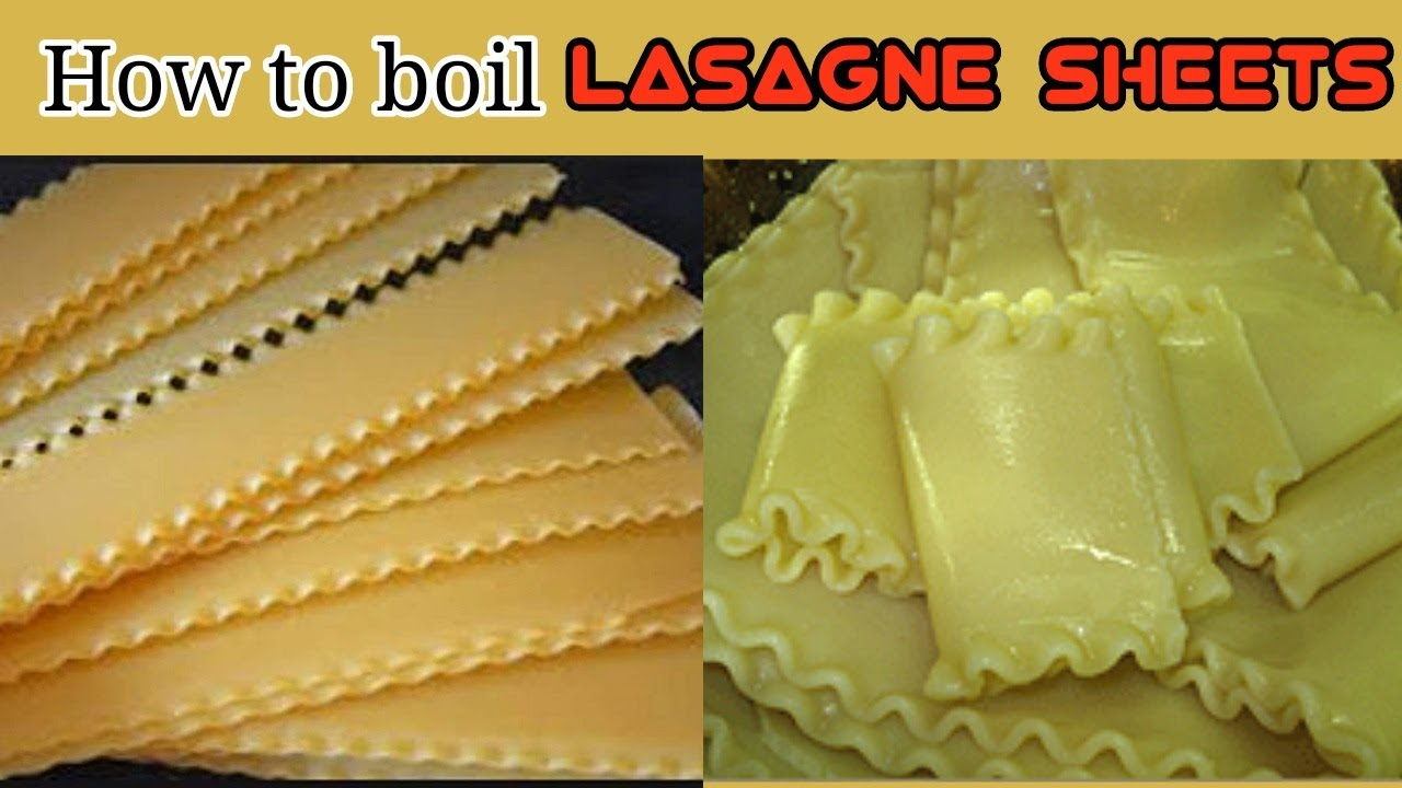 How To Boil Lasagna Noodles Sheets Without Sticking Youtube