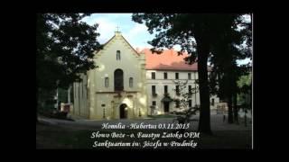 Kazanie - Hubertus 03.11.2015 - o. Faustyn Zatoka OFM