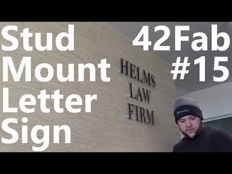 Stud Mounted Letter Sign - 42Fab #15