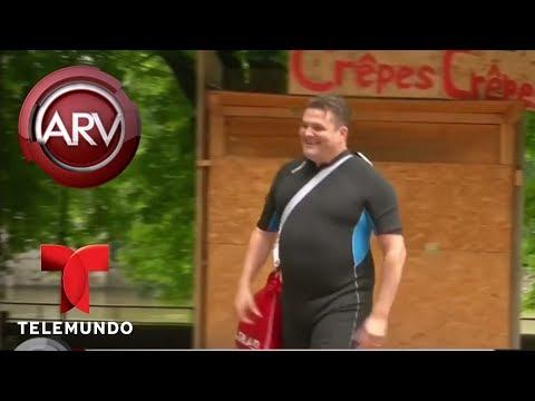 Un hombre nada a diario por un río para ir a su trabajo | Al Rojo Vivo | Telemundo