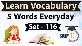 Daily Vocabulary - Learn 5 Important English Words in Hindi every day - Set 116