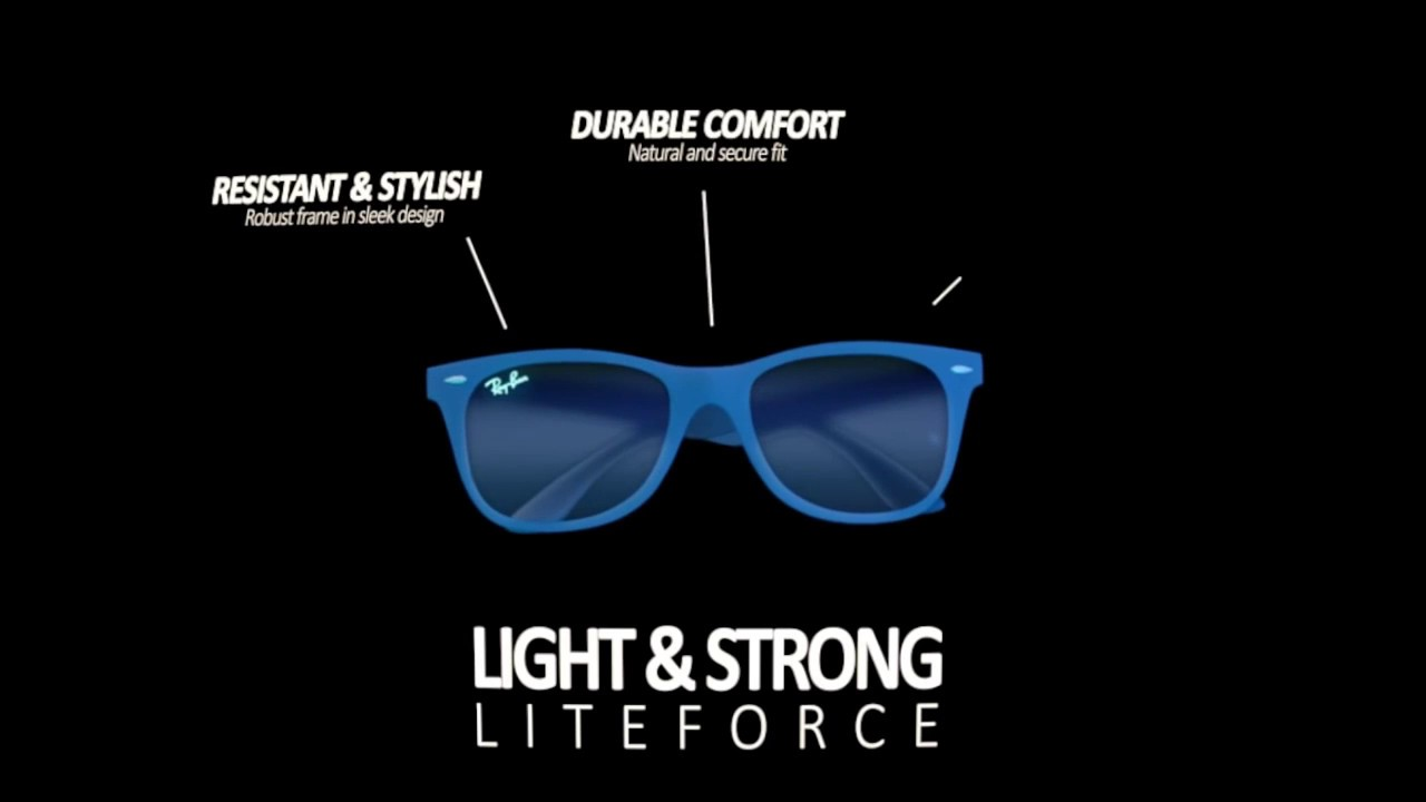 dc13ce14c0d Ray-Ban Wayfarer Liteforce - YouTube
