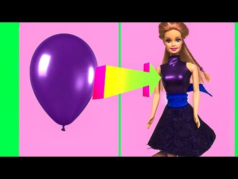 DIY Barbie Dresses with Balloons Making Easy No Sew Clothes for Barbies Creative for Kids Devlin Fox