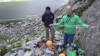 Rope skills for scrambling 1: using a rope
