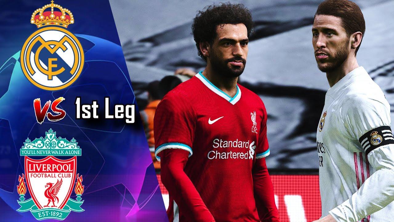 🔥 REAL MADRID vs LIVERPOOL (1st leg) ○ PES 2021 Realism Mod - Champions  League