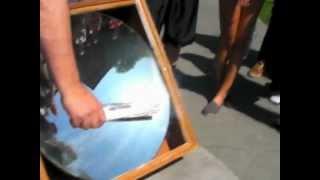 A 30 inch parabolic reflector
