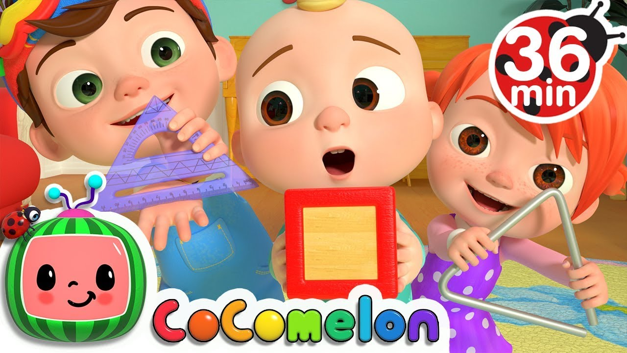 The Shapes Song More Nursery Rhymes Kids Songs Cocomelon Youtube