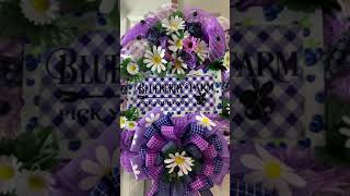 Finished 2020 Blueberry Farm Wreath