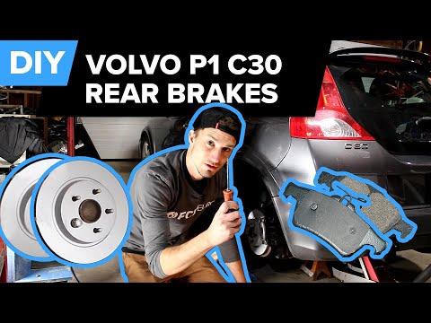 Volvo P1 C30 Rear Brake Pads & Disc Replacement & Fluid Flush DIY (S40, C70, V50)