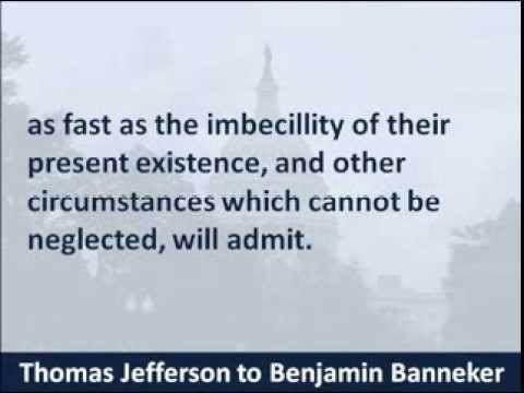 thomas jefferson's letter to benjamin banneker - hear the reply