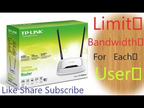 How to Limit Bandwidth on TP-Link Router