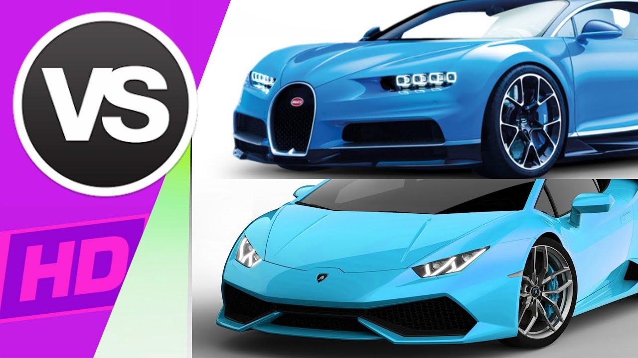 Bugatti Chiron Vs Lamborghini Huracan Youtube
