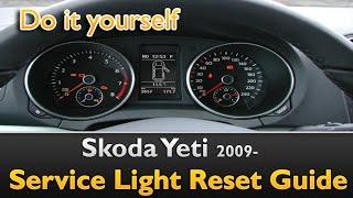 Skoda Yeti Service Light Reset Guide