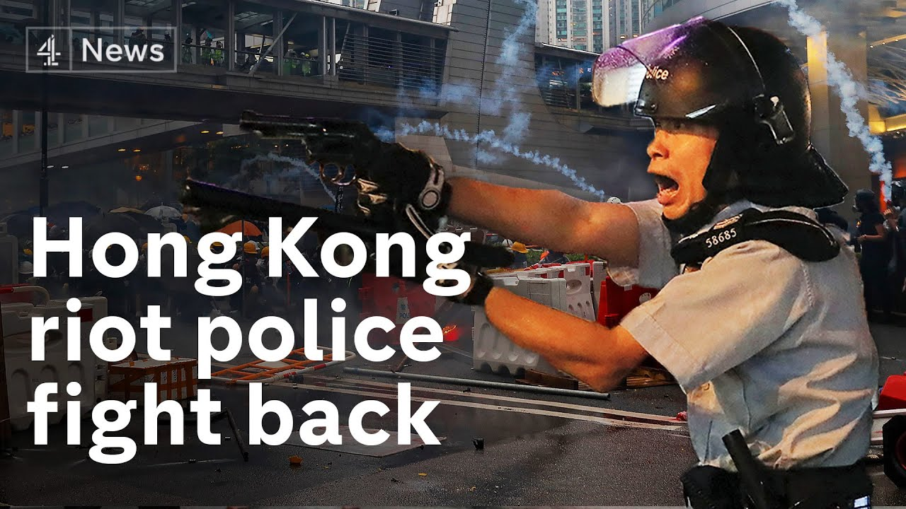Hong Kong: Police fire live round for first time as violence intensifies