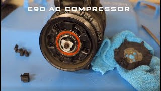 BMW E90 N54 AC Compressor DIY