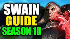 SEASON 10 SWAIN GAMEPLAY GUIDE - (Best Swain Build, Runes, Playstyle) - League of Legends