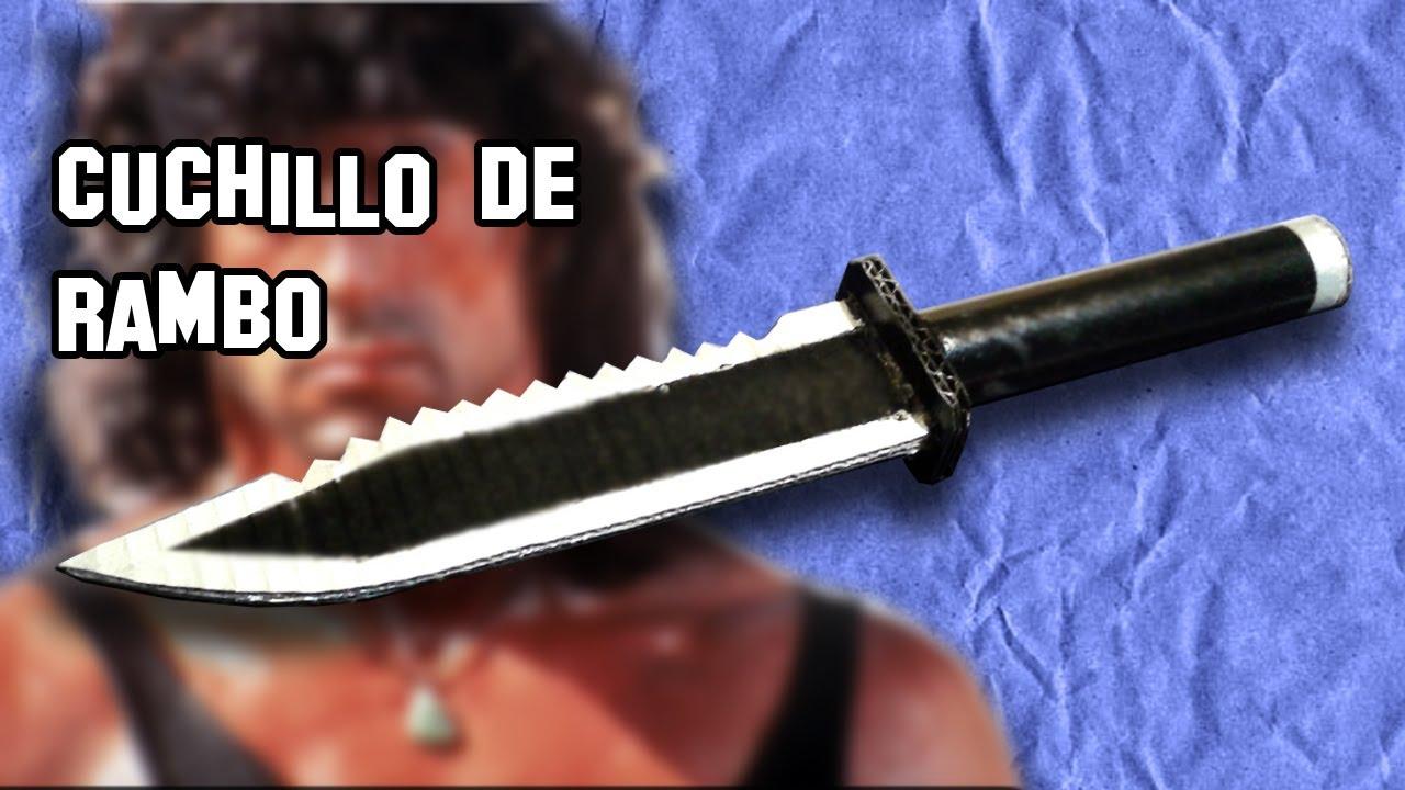 Cómo Hacer el Cuchillo de Rambo con Cartón - YouTube