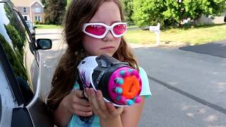 Nerf War:  Boys vs Girls 2