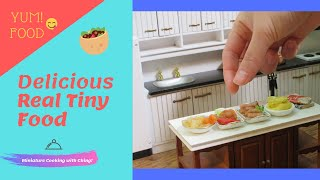 Mini food real miniature cooking : Tiny edible food Recipes- Japanese okonomiyaki- Sontanghon-