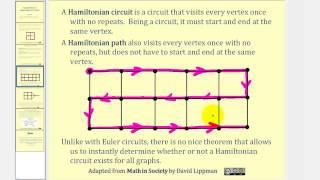 Graph Theory:  Hamiltonian Circuits and Paths
