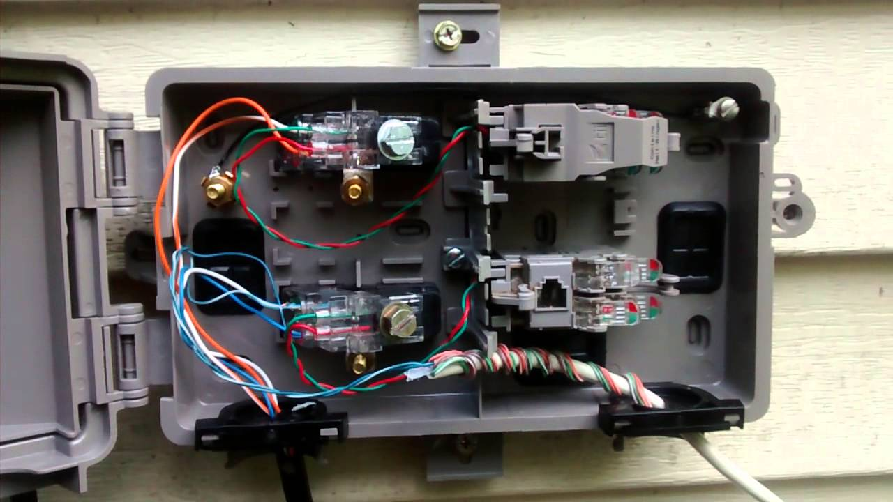 nid box wiring dsl wiring diagram article reviewnew dsl pots splitter 10mbps youtube nid box wiring [ 1280 x 720 Pixel ]