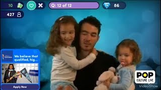Kevin Jonas's daughters joined Pop Culture Live