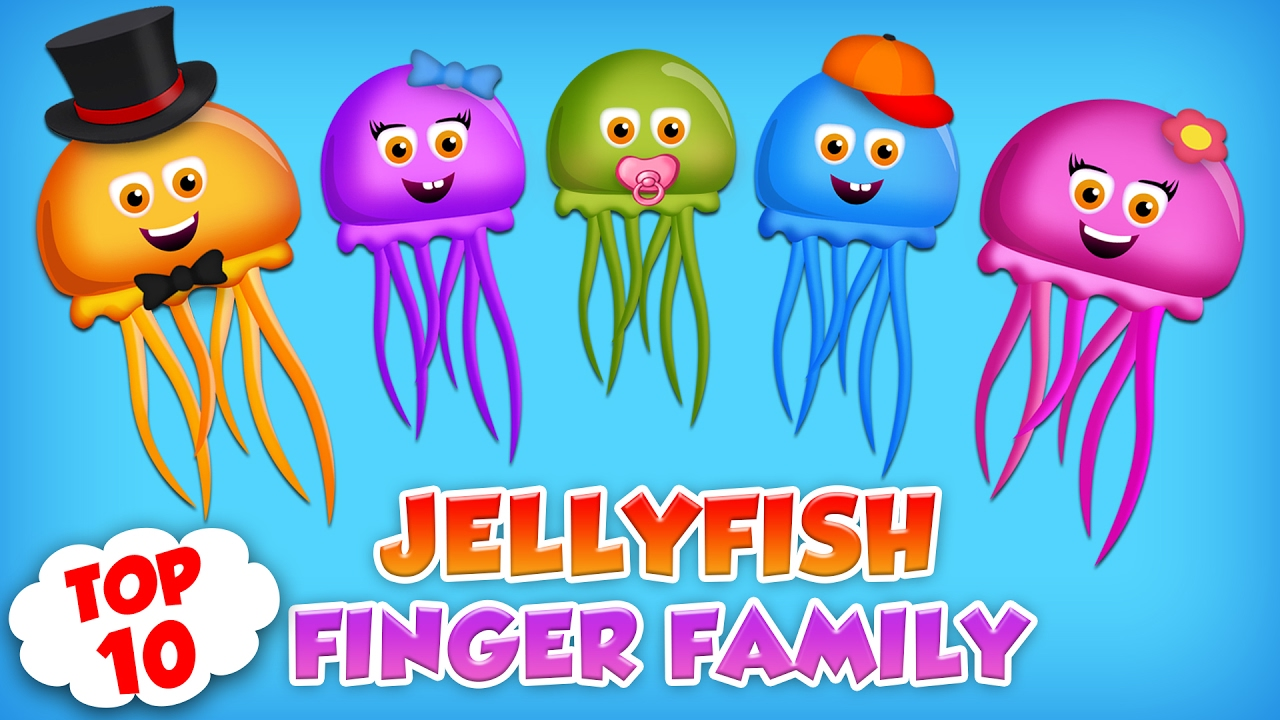 JellyFish Finger Family Collection | Top 10 Finger Family ...
