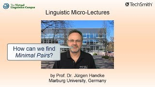 Linguistic Micro-Lectures: Finding Minimal Pairs