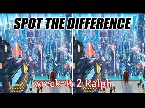 Wreck-It Ralph 2┃Spot the difference┃Search and Find
