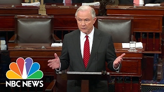 Jeff Sessions Thanks Senate, Acknowledges 'Heated Debate' Over Confirmation   NBC News Free HD Video
